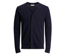 Klassischer Strick-Cardigan nachtblau
