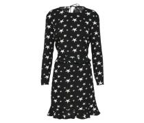 Kleid 'star Aop' schwarz / weiß