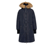 Wintermantel mit Kapuze navy