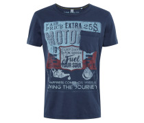 T-Shirt rot / dunkelblau
