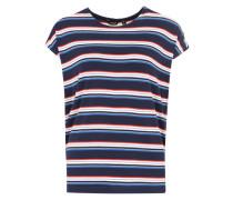 T-Shirt in Ringel-Optik weiß / blau / rot