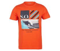 T-Shirt orange / mischfarben