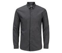 Klassisches Langarmhemd dunkelgrau
