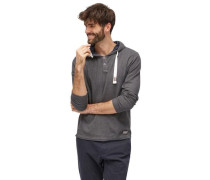T-Shirt mit Struktur und Kapuze