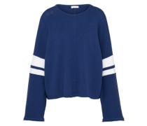 Pullover 'nonie' blau / weiß