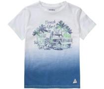 Slubjersey-T-Shirt für Jungen himmelblau / weiß