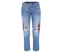 Jeans '501 Cropped Taper' blue denim