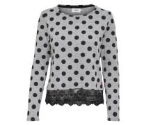 Detailreiches Sweatshirt grau / schwarz