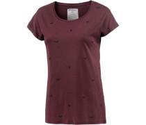 T-Shirt Damen dunkelrot