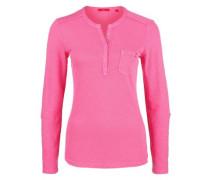 Henleyshirt mit Turn-up-Ärmeln pink
