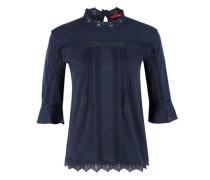Spitzenshirt im Ethno-Look blau