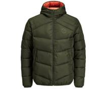 Trendige Wattierte Jacke dunkelgrün