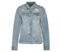 Jeansjacke mit Destroyed Elementen blau