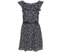 Bedrucktes Kleid ohne Ärmel blau / rosa