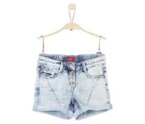 Shorts in Moonwash-Optik blue denim / hellblau