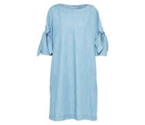 Jeanskleid mit Schleifen-Details hellblau