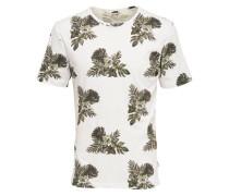 Bedrucktes T-Shirt weiß