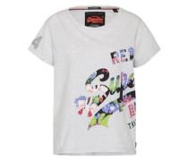 Shirt mit Print hellgrau / mischfarben