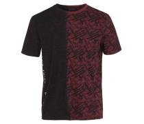 T-Shirt 'Origa' dunkelrot / schwarz