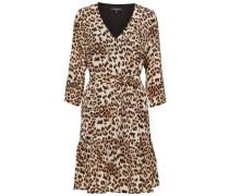 Print-Kleid braun