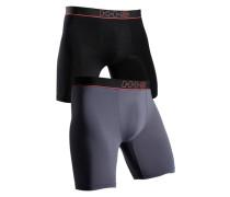 Boxer (2 Stck.) grau / schwarz