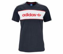 T-Shirt 'block Tee' marine / rot / weiß