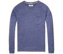 Sweatshirt 'thdm CN Hknit L/S 36' blaumeliert