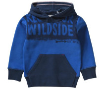 Sweatshirt mit Kapuze für Jungen blau