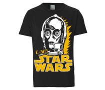 """T-Shirt """"c-3Po"""" goldgelb / schwarz / weiß"""