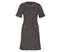 Bouclé Kleid mit Viertelarm anthrazit
