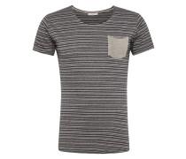 'stripper- T-Shirt ' anthrazit / greige