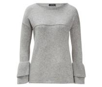 Pullover Volant-Ärmel grau grau