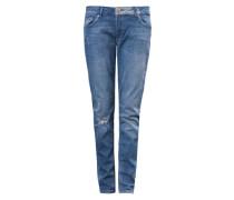 Boyfriend: Used Stretch-Jeans blau