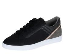 Sneaker mit Leder-Optik 'Aisha' schwarz