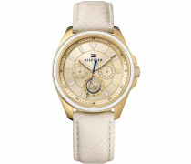 Multifunktionsuhr 'Sophisticated Sport 1781806' creme / gold