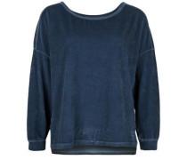 Sweatshirt 'crew Relax Velvet' blau