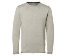T-Shirt O-Ausschnitt- grau