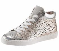 Sneaker gold / silber / weiß