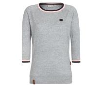 Pullover graumeliert / rosa / schwarz