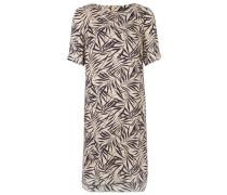 Kleid Kurzarm beige / mischfarben / schwarz