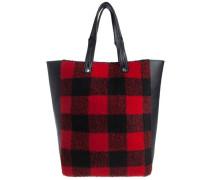 Tasche Gemusterte rot / schwarz