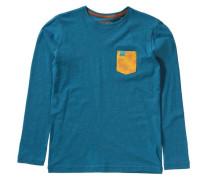 Langarmshirt 'jacks' blau / hellorange