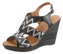 Sandalette in trendigen Ethno-Look schwarz / weiß