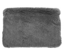 Fake-Fur-Tasche grau