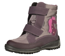 Stiefel taupe / lila