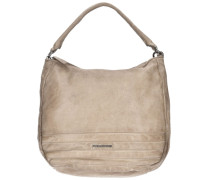 Cut it Vintage Megapixel Shopper Tasche Leder 35 cm beige
