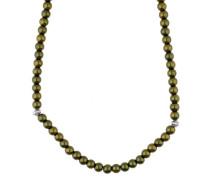 Halskette 'Innocent Pearl' oliv