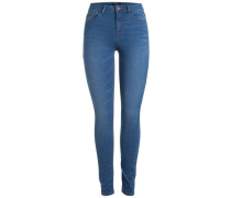 Stretch-Denim-Leggings blau