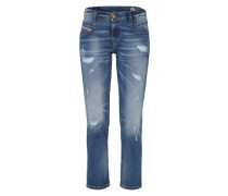 'Belthy-Ankle' Straight Denim 084Lr blau