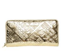 Portemonnaie mit Logo-Prägung gold